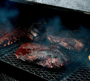 cooking a beautiful brisket on the grill